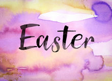 Easter Concept Watercolor Theme Royalty Free Stock Photos