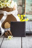 Easter concept on wood Royalty Free Stock Images