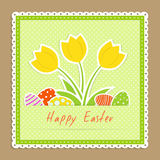 Easter congratulation card Royalty Free Stock Photos