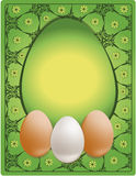 Easter congratulations egg Stock Images