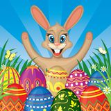 Easter congratulatory background Royalty Free Stock Photo