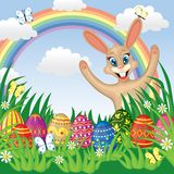 Easter congratulatory background Stock Photos