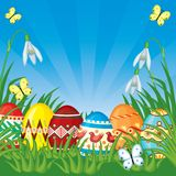 Easter congratulatory background Stock Photography