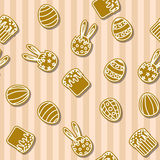 Easter cookies background seamless Royalty Free Stock Photo