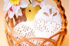 Easter cookies in basket Stock Photo