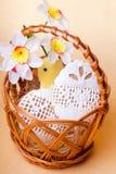 Easter cookies in basket Royalty Free Stock Image