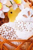 Easter cookies in basket Royalty Free Stock Photos