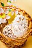 Easter cookies in basket Stock Photography
