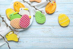 Easter cookies royalty free stock photo
