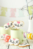 Easter cookies in cup stock photography