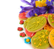 Easter cookies decorated with icing Stock Photo
