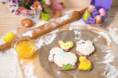Easter cookies on the eve of the holiday Stock Photos