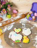 Easter cookies on the eve of the holiday Royalty Free Stock Images