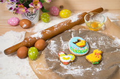 Easter cookies on the eve of the holiday Stock Images