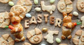 Easter cookies for kids stock images