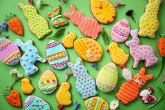 Easter cookies. Top view Royalty Free Stock Photography