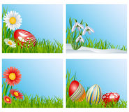 Easter corner decoration set Royalty Free Stock Images