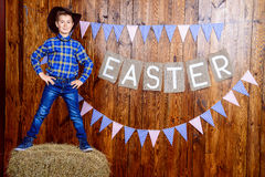 Easter cowboy Stock Image