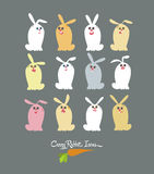 Easter Crazy Rabbit Royalty Free Stock Photos
