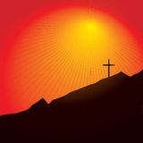 Easter cross royalty free stock photography