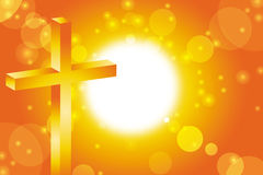 Easter cross background. Easter cross on abstract sun background Royalty Free Stock Photo