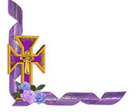 Easter cross border Stock Photos