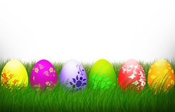 Easter Cross Colorful eggs Religion background holiday vector illustration