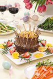 Easter Crown Roast of Lamb stock photography