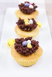 Easter cup cakes Stock Photography