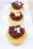 Easter cup cakes Royalty Free Stock Photography