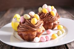 Easter cupcake Royalty Free Stock Photography