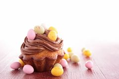 Easter cupcake. Close up on easter cupcake Royalty Free Stock Photo