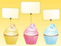 Easter cupcake and label Stock Images