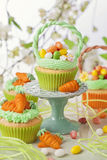 Easter cupcake. On a stand Stock Images