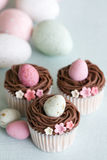 Easter cupcakes Stock Photography