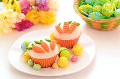 Easter cupcakes Stock Images