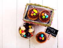 Easter cupcakes with chocolate Stock Photo