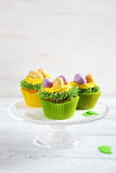 Easter cupcakes with cream Royalty Free Stock Images
