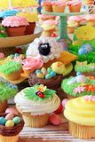 Easter cupcakes and Easter eggs Royalty Free Stock Image