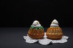 Easter cupcakes with funny chick Royalty Free Stock Photo