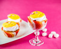 Easter cupcakes and sweets Stock Image