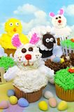 Easter cupcakes and treats Royalty Free Stock Photos