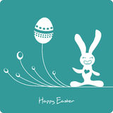 Easter cute bunny with eggs Stock Photos