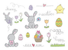 Easter cute clip art Royalty Free Stock Images