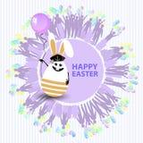 Easter cute illustration. Rabbit-egg Stock Image