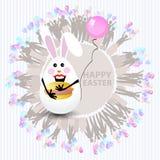 Easter cute illustration. Rabbit-egg stock illustration