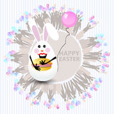 Easter cute illustration. Rabbit-egg Royalty Free Stock Photos