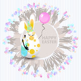 Easter cute illustration. Rabbit-egg Royalty Free Stock Photography