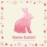 Easter cute scribble bunny silhouette Royalty Free Stock Image