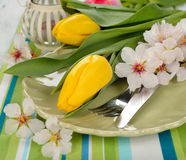 Easter cutlery Royalty Free Stock Photo